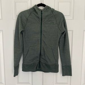The North Face Green Terry Full Zip Size Small